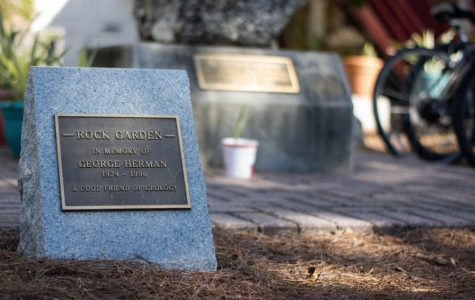 The Rock Garden is now located outside of Walter E. Blessey Hall on the J. Bennett Johnston Quadrangle.