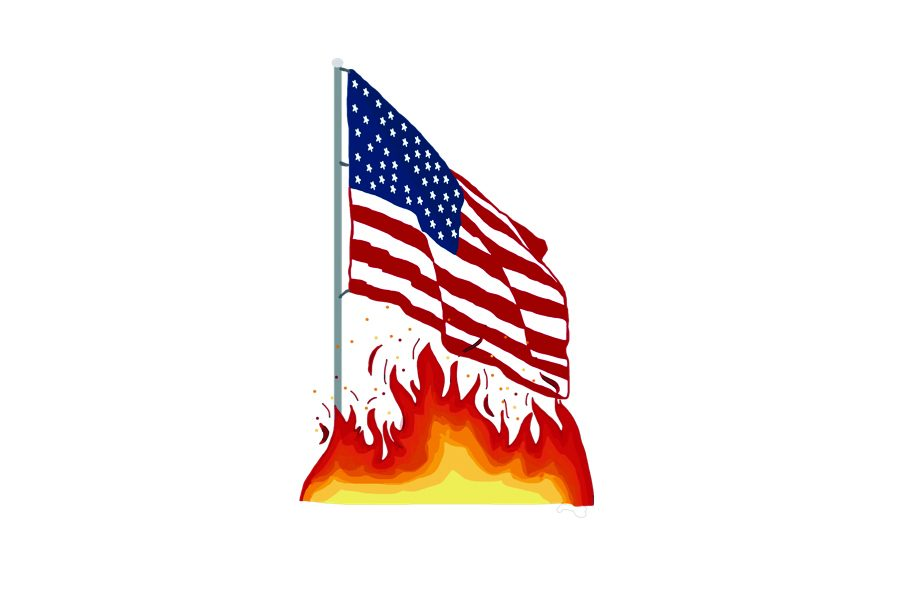 Flag+burning+prohibition+presents+contradiction+for+freedom+of+speech