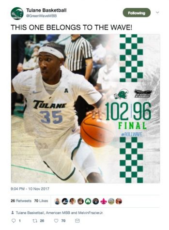 No. 35 junior guard Melvin Frazier put up 19 points against LIU Brooklyn Friday night in Devlin Fieldhouse.