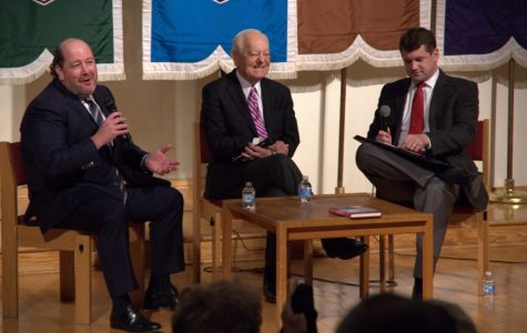 Professor Brian Brox interviews Bob Schieffer and H. Andrew Schwartz about the evolution of news and the proliferation of media outlets.