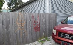 Catholic Center graffitied with anti-religious images
