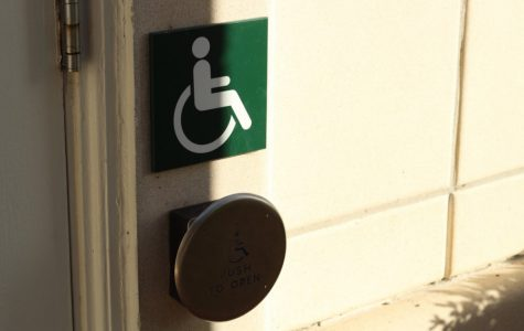Campus doorways provide wheelchair accessibility issues