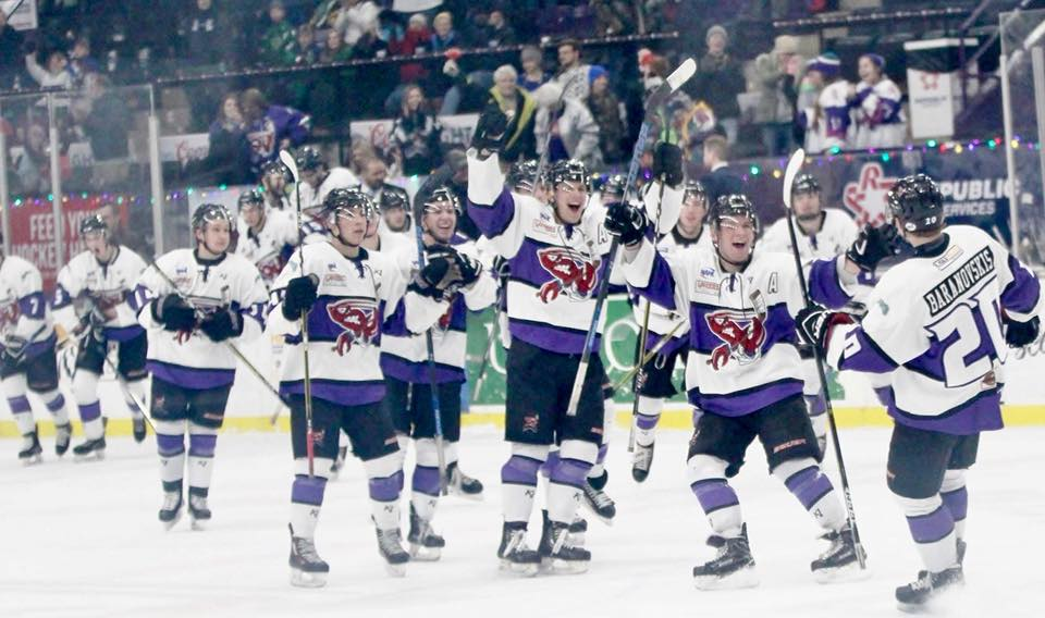 Shreveport Mudbugs celebrate a victory. The team has now qualified for the playoffs for the second year in a row.