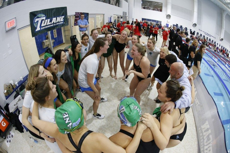 Tulane swimming finished fifth overall in the AAC championship, taking home six medals and setting several school records