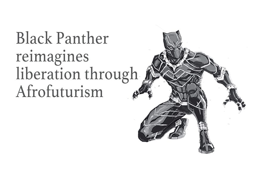 Black+Panther+reimagines+liberation+through+afrofuturism
