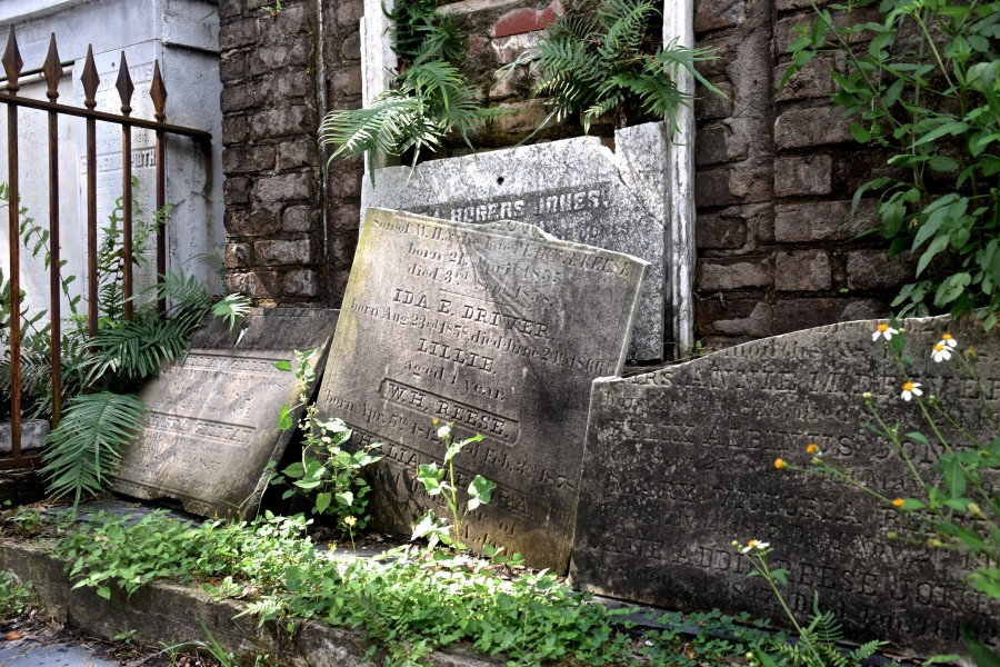 Age+and+lack+of+maintenance+have+allowed+many+facets+of+New+Orleans+cemeteries%2C+such+as+tombstones+and+the+mausoleums+themselves%2C+to++fall+into+disrepair.+