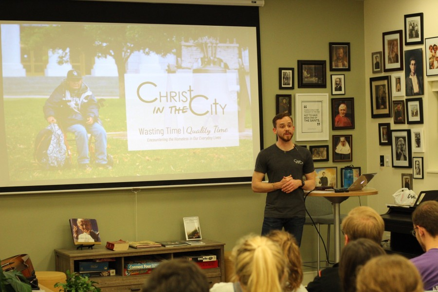 Alexander Goessler came to speak at the Catholic Center, on Feb. 7 in a lecture entitled,
