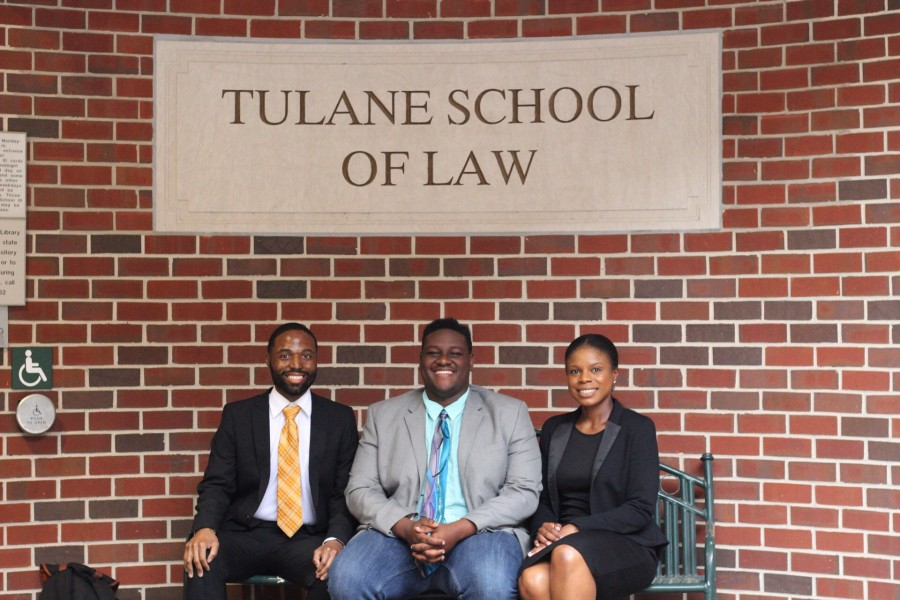 (Left to right) Gerald Williams ('19), Garrett Hines ('20) and Kerianne Strachan ('18) were elected presidents of their respective classes at Tulane Law School.