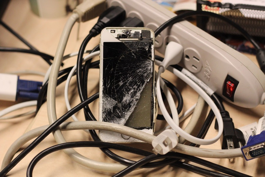 Students often break their phones on campus, and have to seek out creative ways to fix their screens.