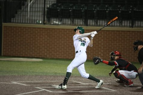 Tulane baseball's Kody Hoese hits a game tying three-run home run with two outs in the ninth. Hoese and the rest of Green Wave baseball will be back in series play at home this weekend against East Tennessee State University.