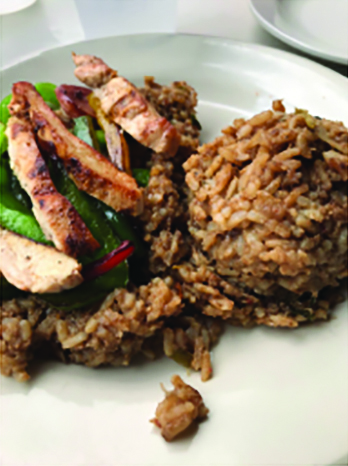 Jambalaya, a rice and meat dish with a cajun spin, is a staple of New Orleans cuisine. Market Cafe strives to differentiate itself from other jambalaya options.