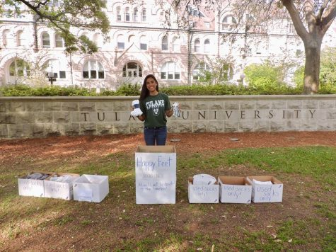 Freshman knocks socks off campus, donates 250 pairs to homeless