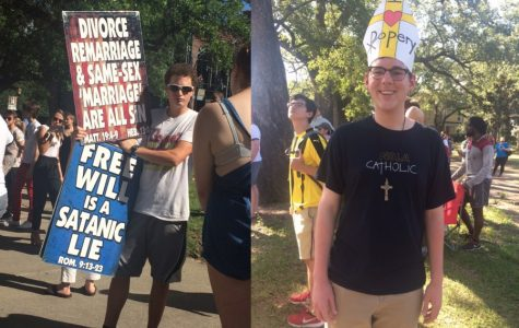 Westboro Baptist Church pickets Loyola, students counter-protest
