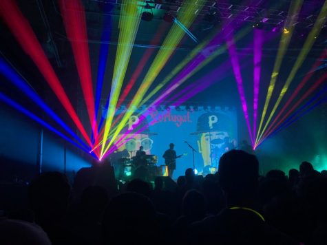 Alaskan band Portugal. The Man performed on Friday night at Sugar Mill.