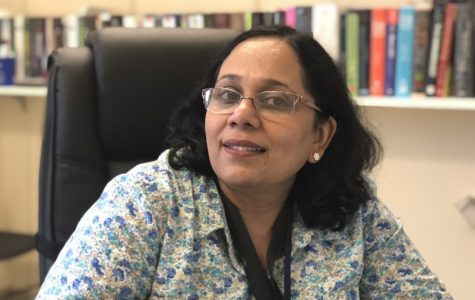 Meenakshi Vijayaraghavan, also known as Dr. V, is a professor of practice in Tulane's Cell and Molecular Biology department.