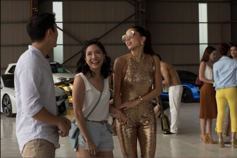 A still from the film featuring Constance Wu (left) and Sonoya Mizuno (right).
