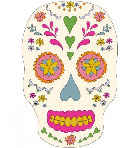 A representation of a candy skull representative of Dia de los Meurtos.