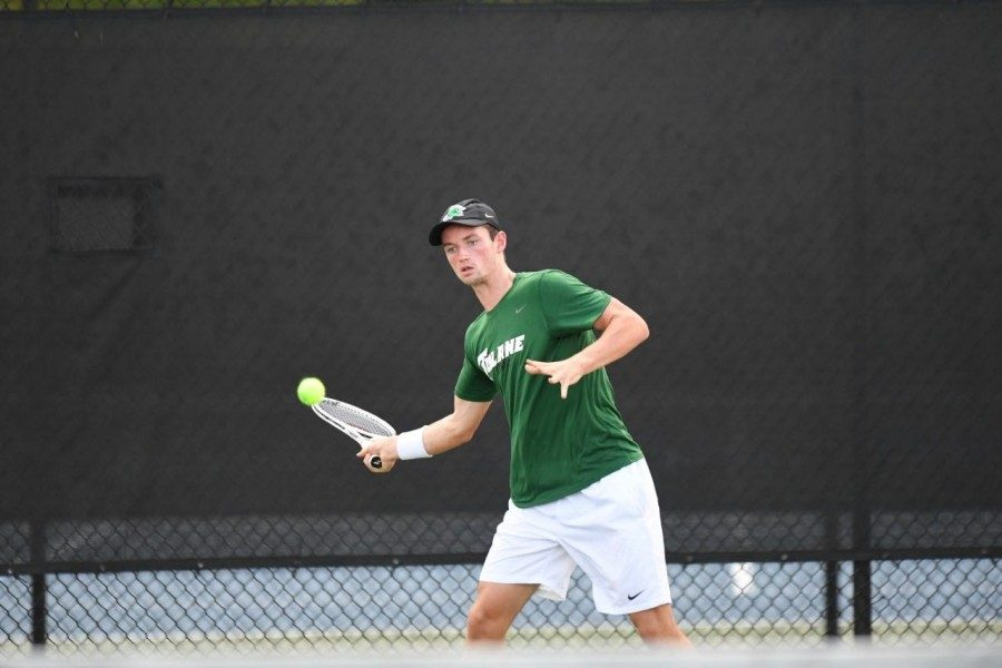 Junior Ewan Moore secured both match-winning points at the ITA Kickoff, allowing Tulane to advance
