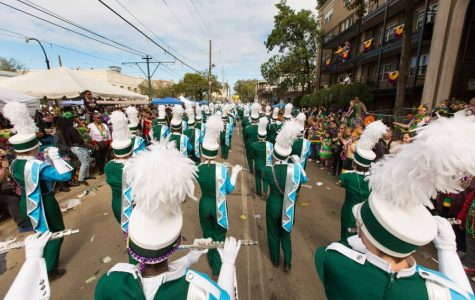 Let the good times roll wave: Marching Band hits the parade route