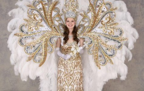 The Queen's Krewe of Endymion parade costume
