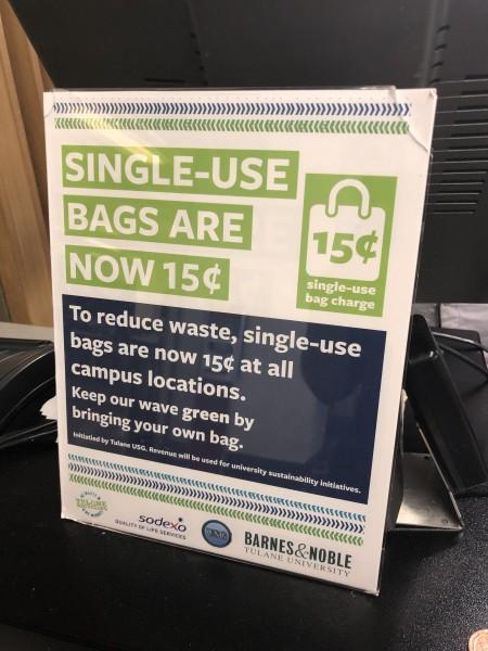 New single-use plastic bag USG initiative seeks to reduce waste on Tulane's campus