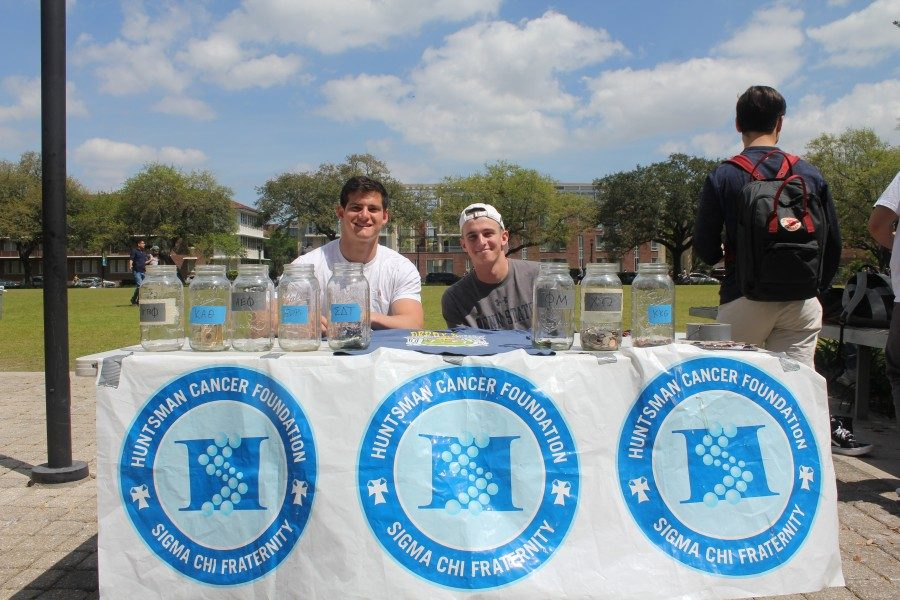 Tulane University's Sigma Chi fraternity chapter raised money for the Huntsman Cancer Foundation through their annual Derby Days.