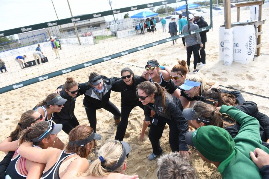 The beach volleyball team will open the tournament against the University of South Carolina on April 19.