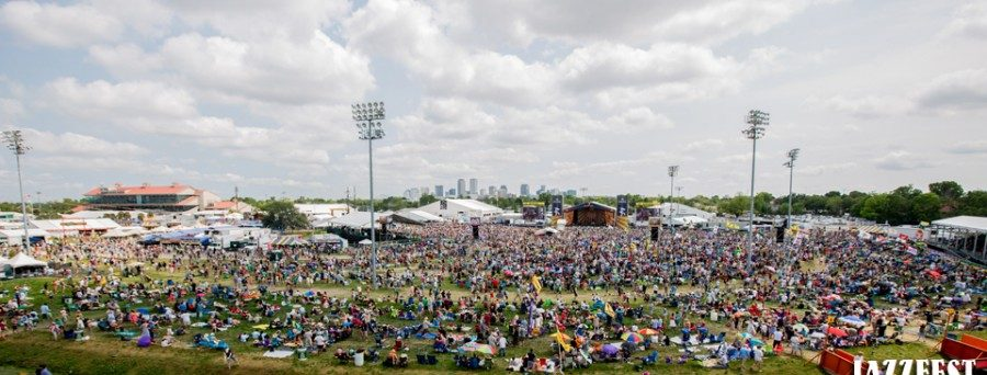 Jazz Fest Crowd in 2014. Courtesy of New Orleans Jazz & Heritage Festival & Foundation, Inc.