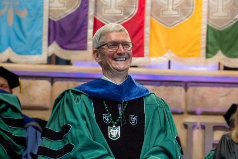 Commencement speaker Tim Cook discusses his path, coming out