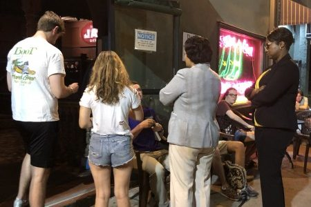 Mayor LaToya Cantrell visits The Boot after sexual assaults
