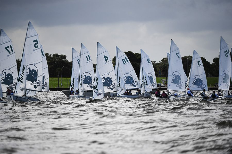 The Tulane sailing fleet, pictured here, recently began its inaugural season.