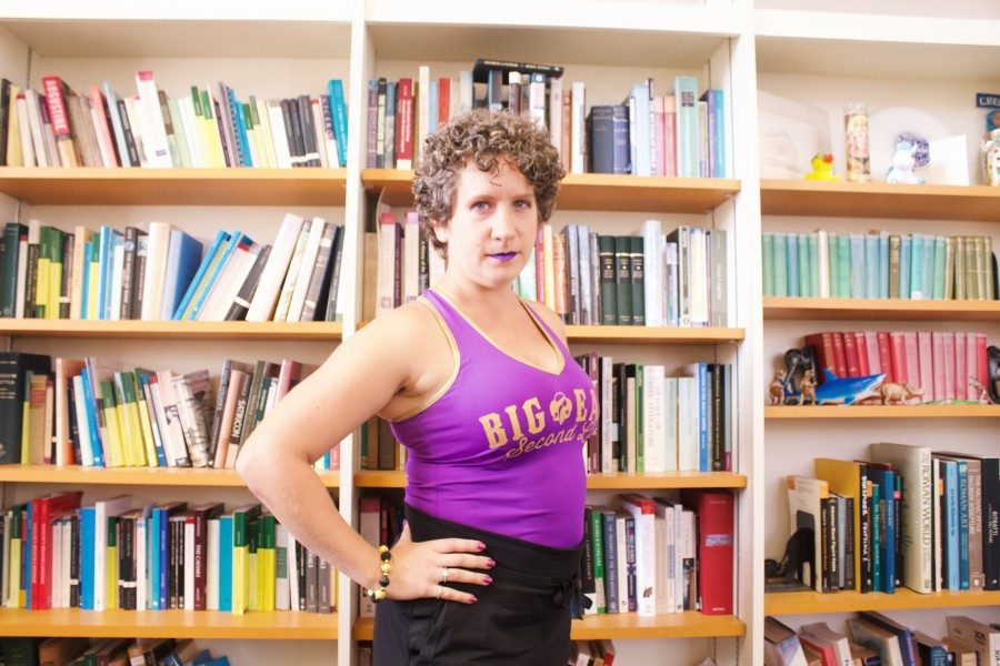 Professor of classical studies Mallory Monaco Caterine was on the AllStar team of the Big Easy Rollergirls.