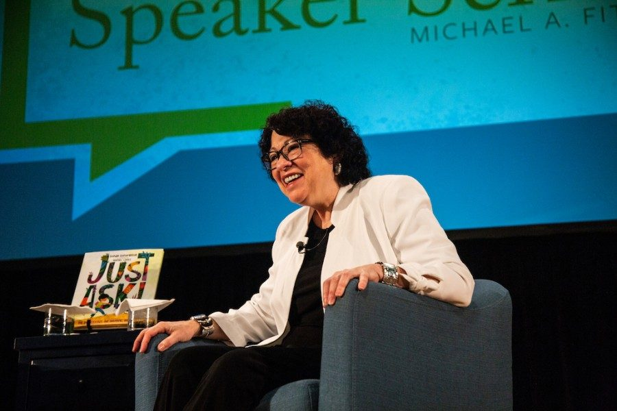 Supreme+Court+Justice+Sonia+Sotomayor+visited+campus+as+the+first+event+in+the+Presidential+Speaker+Series.+