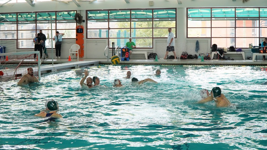 The Tulane club water polo team competes in a match.