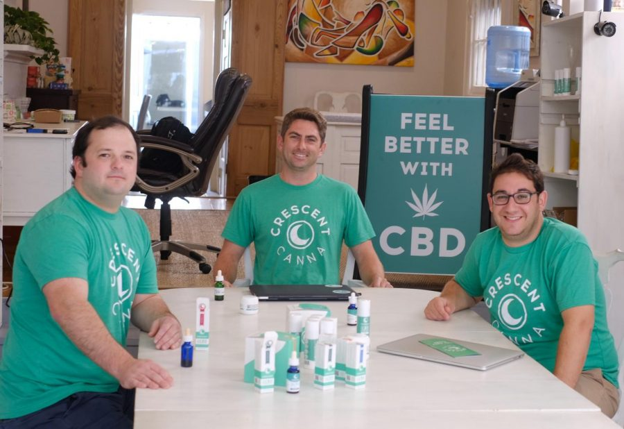 Crescent Canna partners Sean Partridge (left), Joe Gerrity (center), and David Reich (right) launched their CBD business with an emphasis on quality control, transparency, and affordability.