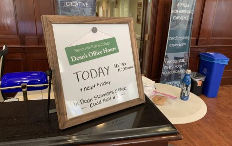 Dean Skinner is now holding weekly office hours on Fridays from 10:30 to 11:30 a.m. in 113 Cudd Hall.