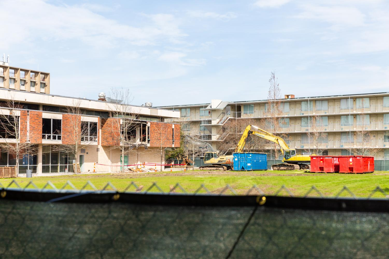 Bruff Commons is undergoing demolition, which has been a source of disturbance to many residents in Irby and Phelps.
