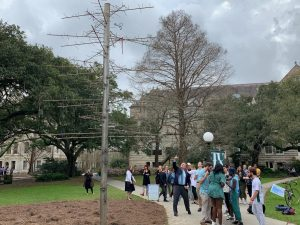 Fitts unveils new bead tree sculpture