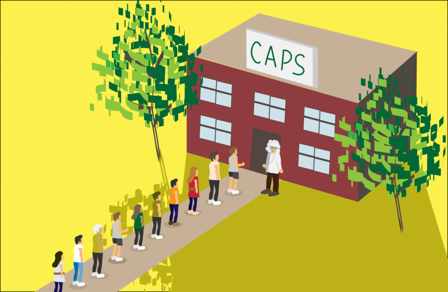 CAPS appointments are often booked up to the point where students cannot see a counselor until weeks later.