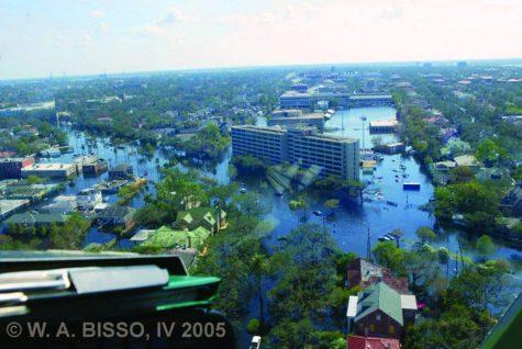 Tulane's Uptown campus post-Hurricane Katrina.