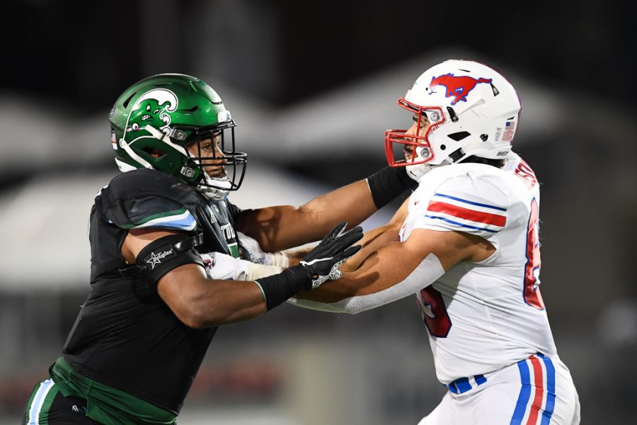 The Green Wave sported their Wave of Change jerseys in the team's 34-37 loss to SMU last Friday.
