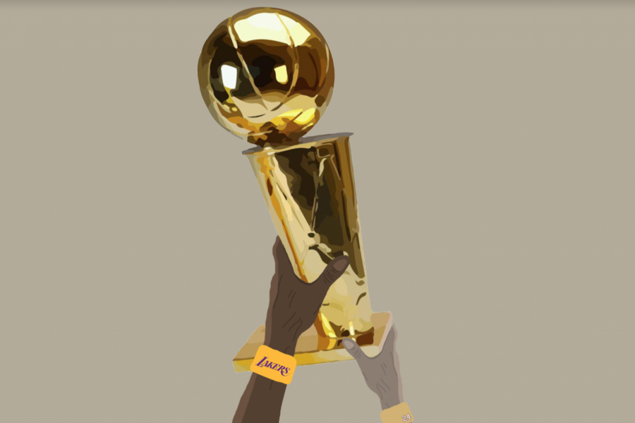 The Los Angeles Lakers won their 17th Larry OBrien championship trophy this year.