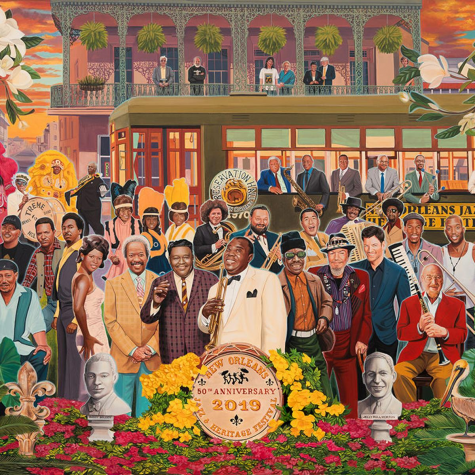 jazz fest poster with 55 artists