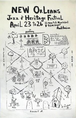 first jazz fest poster