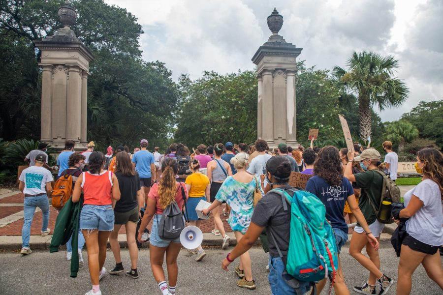 student protests against TUPD