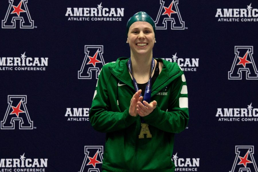 Kate McDonald was named AAC Women's Swimmer of the Week on Dec. 15.