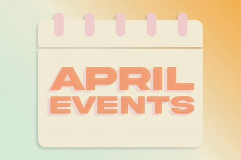 april events written on a calendar