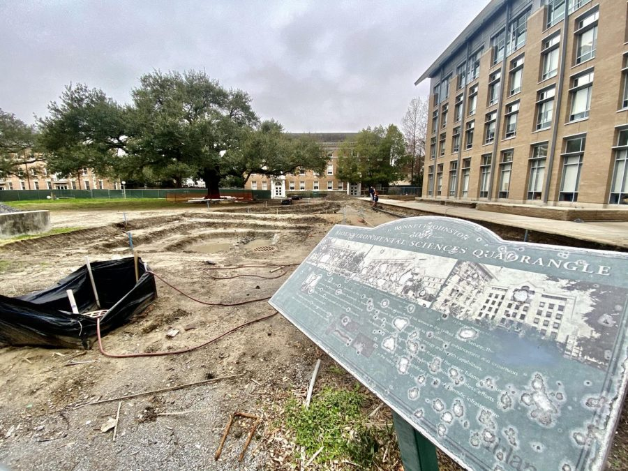 Construction on Gibson quad