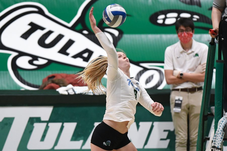 Lexie Douglas posted 22 kills in two consecutive matches against SMU.