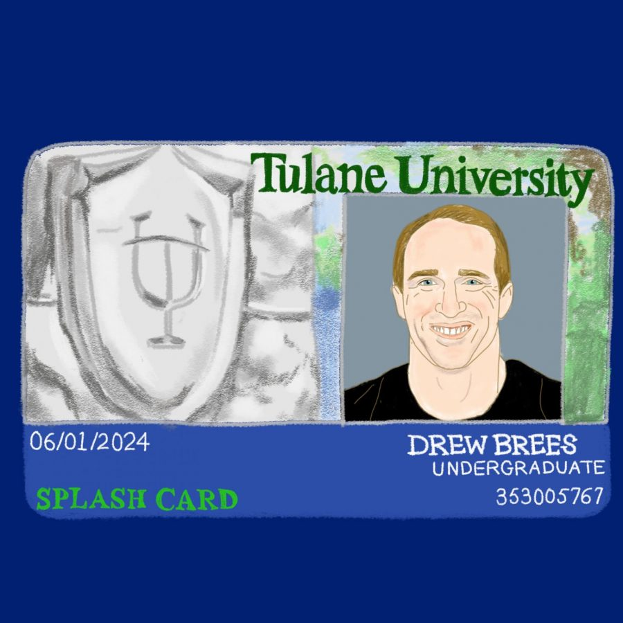 Brees will have his very on student ID.